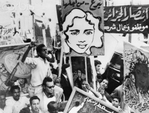 Parade for Algerian Day with Posters